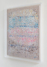 Mixed Media-Encaustic Colour Pigment Framed in Acrylic Box 120 X 90 cm